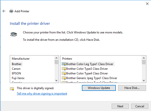 Add a Printer (Windows 10) - VTCRI